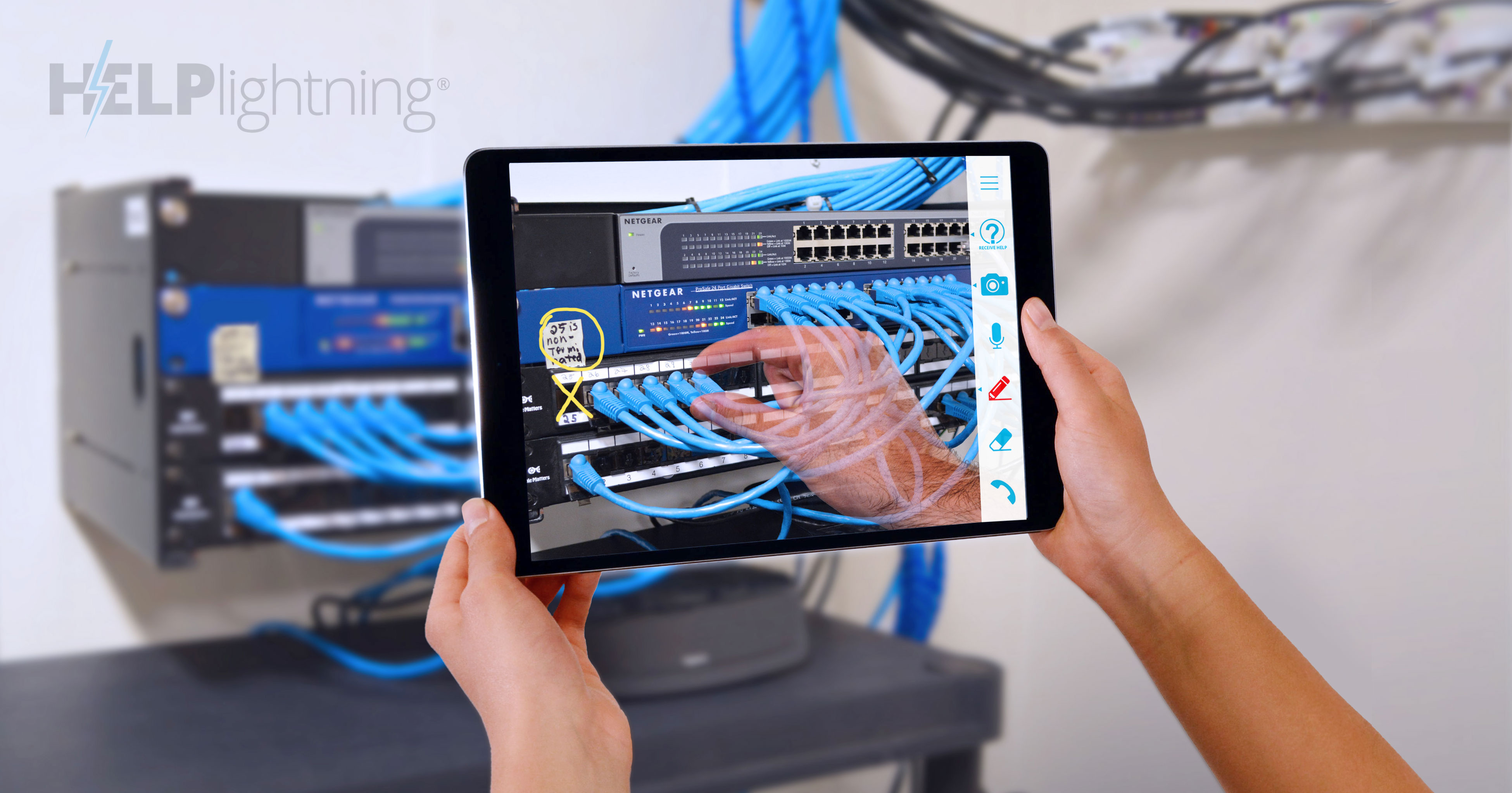 ベルシステム24、Help Lightningの提供を開始。MR(複合現実)技術によるカスタマーサポート、現場支援を実現